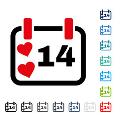 valentine calendar day icon vector image