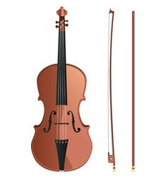 Violin with Bow2 vector image