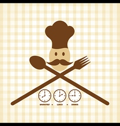 Breakfast Lunch and Dinner time menu card design vector image vector image