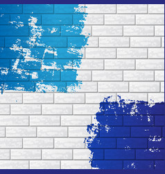 Brick wall with color vector