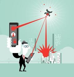 Businessman Using Digital Tablet Technology vector image vector image