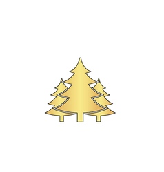 chritmas spruce computer symbol vector image vector image