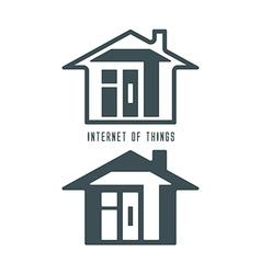 Iot house symbol vector