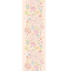 Pink roses vertical seamless pattern background vector image vector image