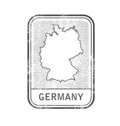 stamp with contour of map of germany vector image