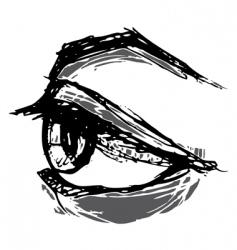 woodblock eye vector image