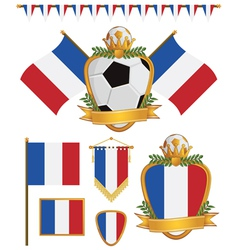 france flags vector image vector image
