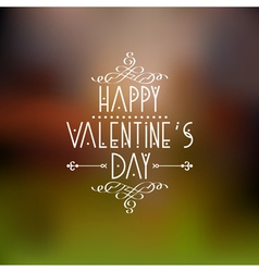 Happy Valentines Day card design with calligraphic vector image vector image