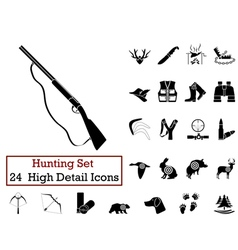 icon set hunting vector image