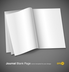 magazine page template vector image vector image