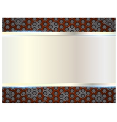 metal plate perforated metal abstract background vector image