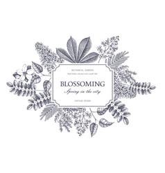 vintage floral template vector image