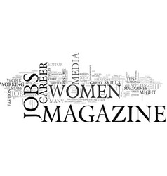 women s career tips how to land a great magazine vector image vector image