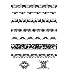 black geometrical design elements vector image vector image