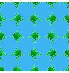 Seamless Cartoon Frog Pattern vector image vector image