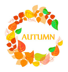 autumn abstract floral background - circle from vector image
