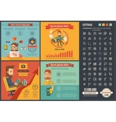 Online business flat design infographic template vector