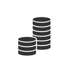 pile of coins black icon vector image vector image