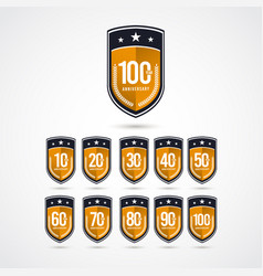 100 years anniversary celebration label logo vector