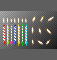 3d realistic different birthday party vector image