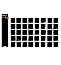 A set of frames black squares textural lines vector