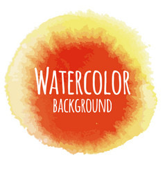 Abstract watercolor background red and yellow vector