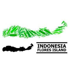 Addiction mosaic map indonesia - flores island vector