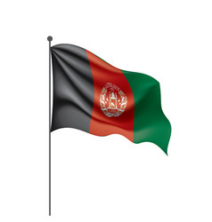 Afghanistan flag on a white vector