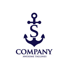 anchor letter s vector image