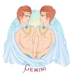 astrological sign gemini vector image