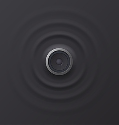 Audio speaker with sound waves eps 10 vector