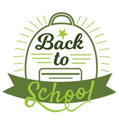 Back to school badge cool trendy school logo vector