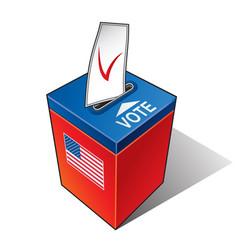 ballot box with the flag of the usa vector image