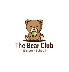 bear leaf vector image