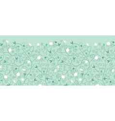 Blossoming Branches Horizontal Seamless Pattern vector image