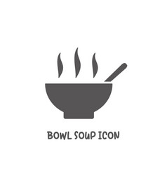 bowl soup icon simple flat style vector image