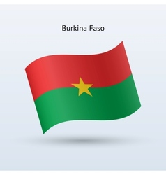 Burkina Faso flag waving form vector image