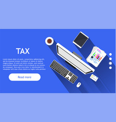 business tax money finance symbol account concept vector image