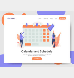 Calendar and schedule concept vector