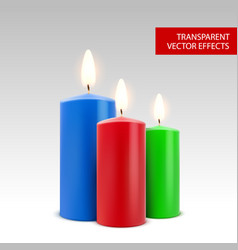Candle wax isolated decoration candlelight vector