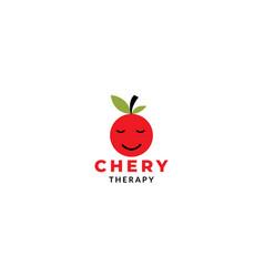 Cherry icon cartoon mascot logo design icon vector