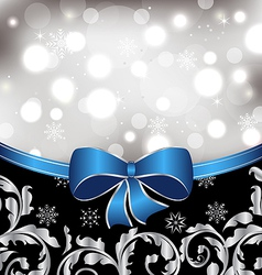 Christmas floral background ornamental elements vector image