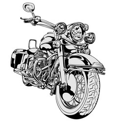 Classic vintage motorcycle freehand drawing vector