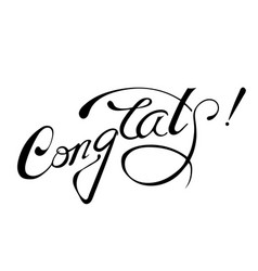 Congrats lettering sign isolated vector