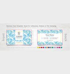 Corporate business card design template vector