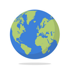 earth globe on white background vector image