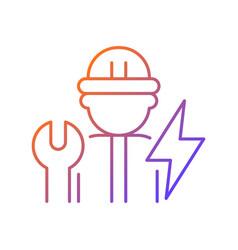 Electrician gradient linear icon vector