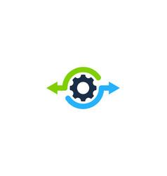 gear share logo icon design vector image
