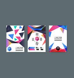Geometric trendy background placard memphis vector