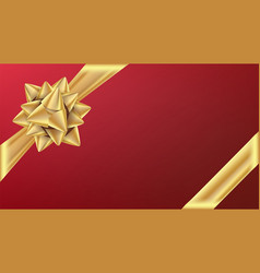 Gold gifr ribbon with bow gift element for vector